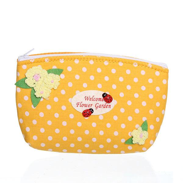 Корзинка сумочка подарочная ″Цветочный сад″ 17*10*5 см оранжевый купить оптом и в розницу