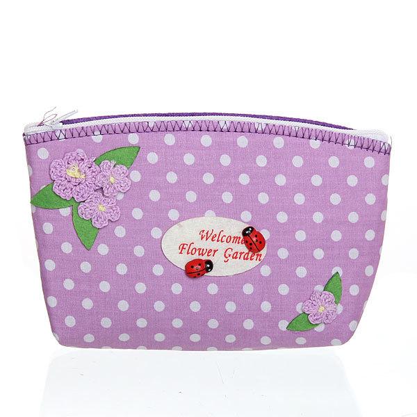 Корзинка сумочка подарочная ″Цветочный сад″ 17*10*5 см фиолетовый 02-8651D купить оптом и в розницу