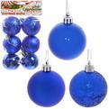 Новогодние шары 5 см ″Индиго″ набор 6 шт, синий купить оптом и в розницу