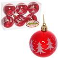 Новогодние шары ″Рубин Новогодняя Елочка″ 6см (набор 6шт.) купить оптом и в розницу