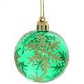 Новогодние шары ″Кристалл Снежинки″ 6см (набор 6шт.) купить оптом и в розницу