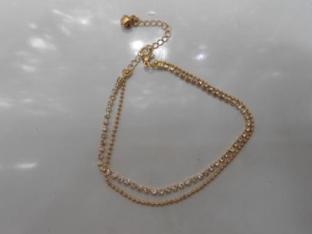 Браслет ″Коллекция Beauty-двойной″, цвет серебро-золото купить оптом и в розницу