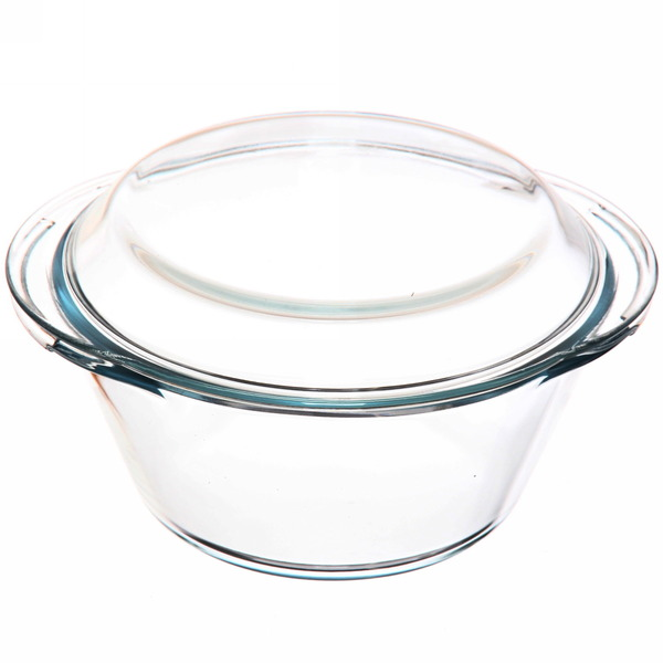 Набор кастрюль из жаропрочного стекла ″HELPER″ 2 предмета (1л, 2л) купить оптом и в розницу