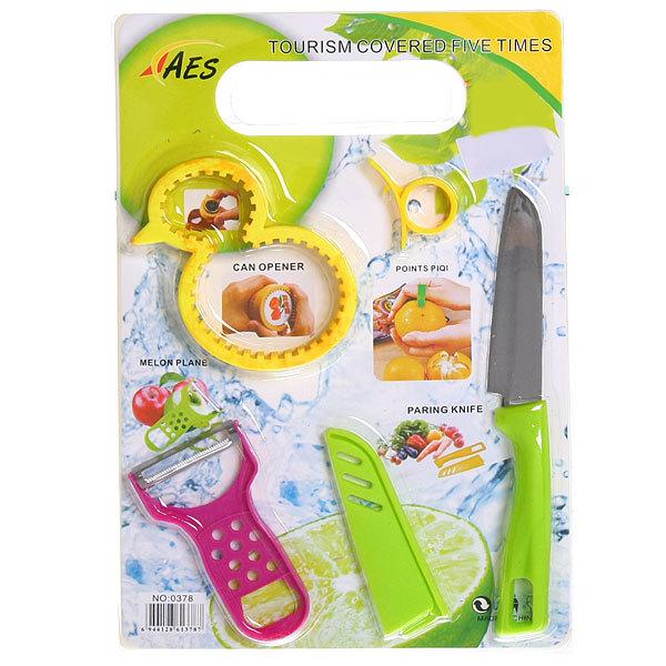Набор 4предмета(2овощечистки+нож+открывашка) купить оптом и в розницу