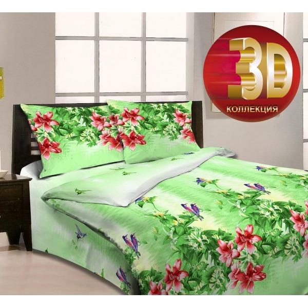 1.5 бязь 3D Орхидея 3989/1 РБ купить оптом и в розницу