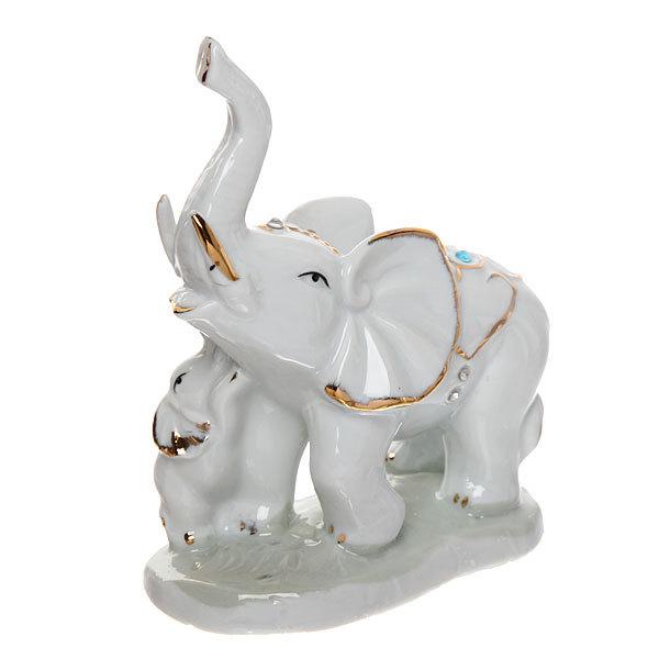Фигурка керамическая ″Слон со слоненком″, 10*14см купить оптом и в розницу