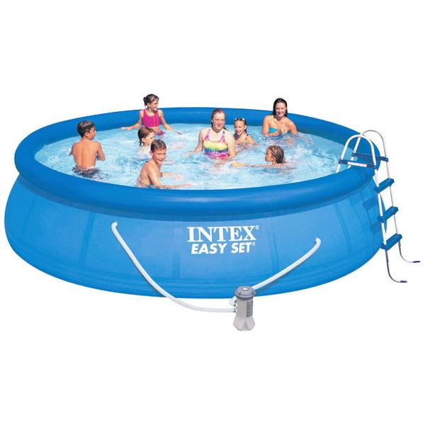 Бассейн надувной Easy Set 457*91 см + 4 аксессуара Intex (54914) (28164) купить оптом и в розницу