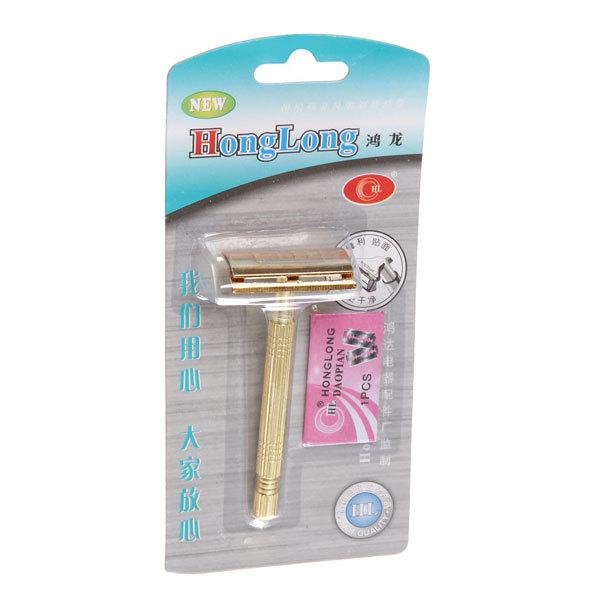 Станок для бритья ″Hong Long″, цвет золото h-10см купить оптом и в розницу