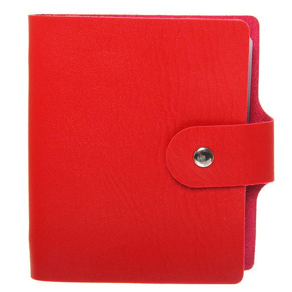Визитница ″Классика″ красный цвет 40 отделений 13*11 купить оптом и в розницу