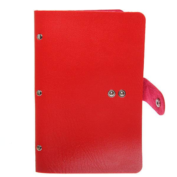 Визитница ″Классика″ красный цвет 60 отделений 19,5*11,5 купить оптом и в розницу