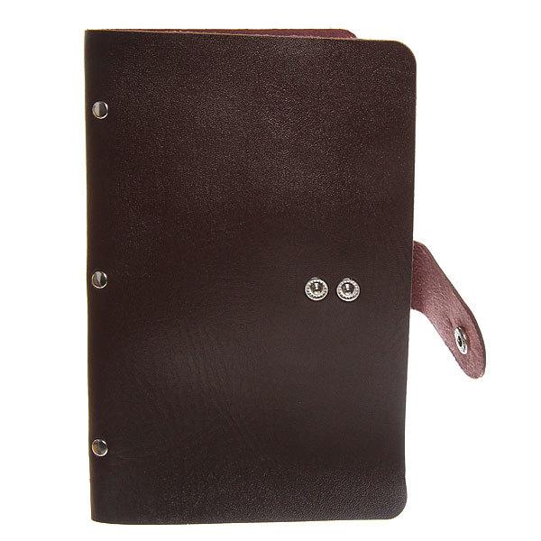 Визитница ″Классика″ коричневый цвет 60 отделений 19,5*11,5 купить оптом и в розницу
