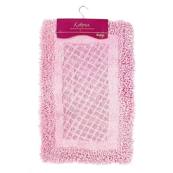 Коврик для ванны Селфи 50*80 100% хлопок A05 розовый купить оптом и в розницу
