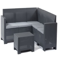 Комплект садовой мебели диван 5мест. угловой  +  столик (ротанг)Set CORNER Nebraska Цвет венге. купить оптом и в розницу