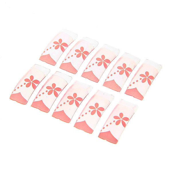 Ногти накладные в пластиковой коробке ″Эллегия - цветы″, рисунок микс, 100шт (без клея) купить оптом и в розницу