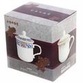 Кружка керамическая с крышкой 300мл ″Королевское чаепитие″ 35430-2 купить оптом и в розницу