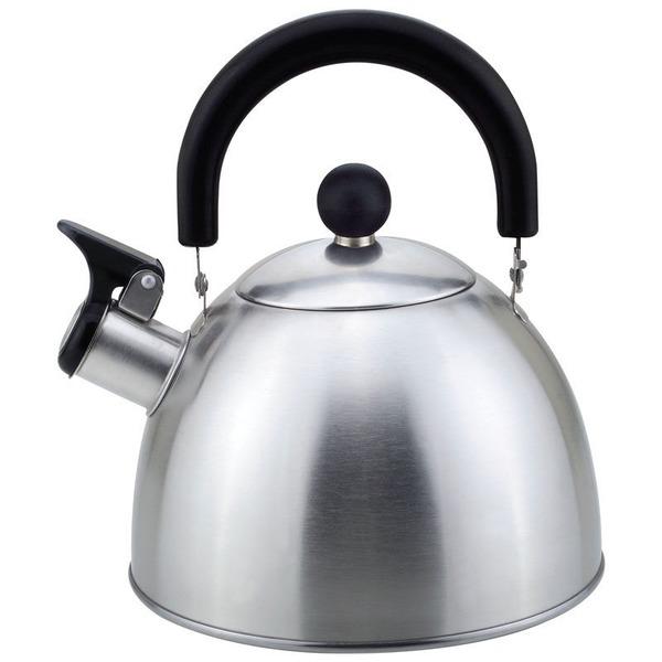 Чайник из нержавеющей стали 2,3л со свистком, матовый купить оптом и в розницу