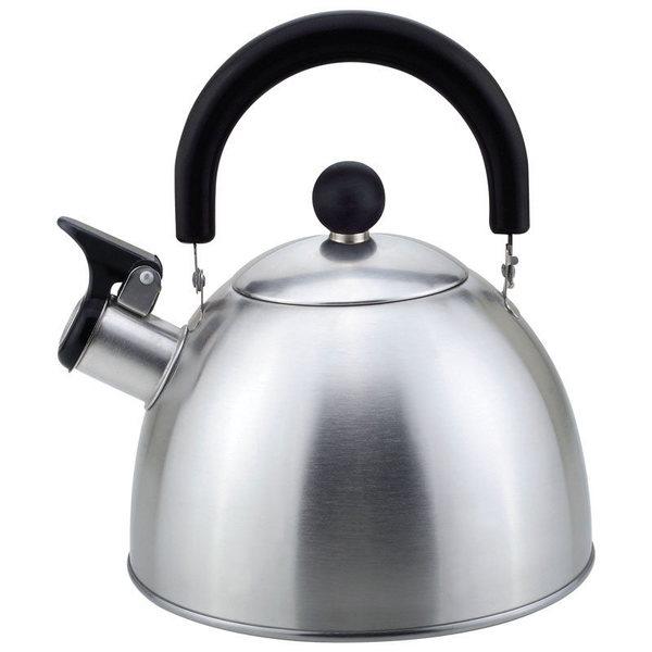 Чайник из нержавеющей стали 2,5л со свистком, матовый купить оптом и в розницу