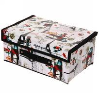 Коробка д/хранения вещей 30*20*15 Париж купить оптом и в розницу