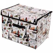 Коробка д/хранения вещей 41*30*30 Париж купить оптом и в розницу