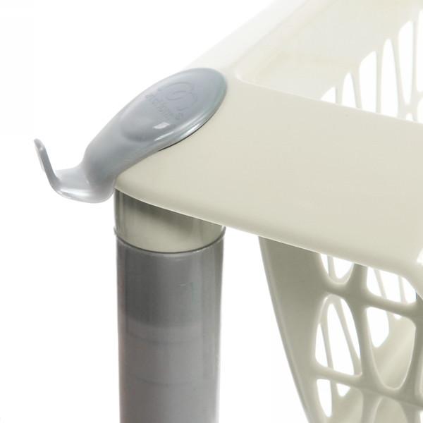 Этажерка универсальная ″Джета″ 3 корзины на колесиках слоновая кость купить оптом и в розницу