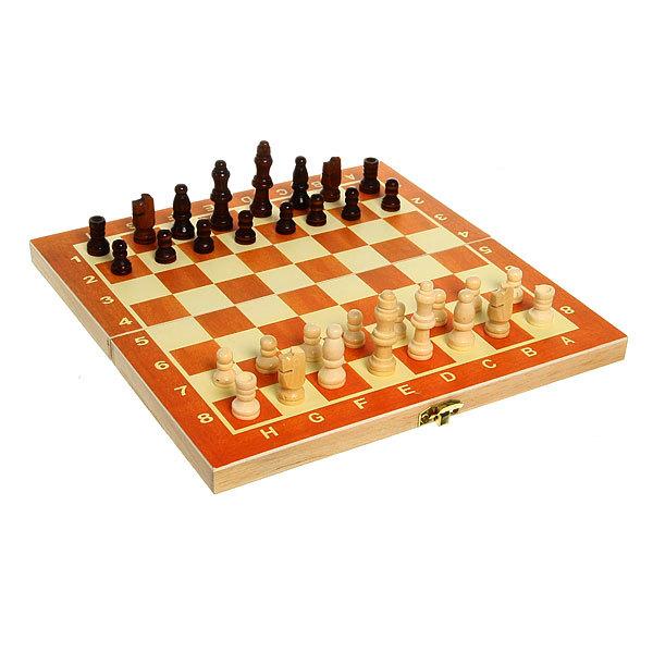 Игра настольная Шахматы (дерево тёмное) 24х12х3см купить оптом и в розницу