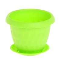 Горшок для цветов″Розетта″ 13,0л Д340 c поддоном зеленый С129ЗЕЛ (Зеленый) купить оптом и в розницу