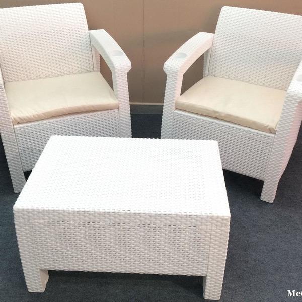 Комплект садовой мебели (2 кресла+ столик )   Yalta Weekend   Цвет слоновая кость купить оптом и в розницу