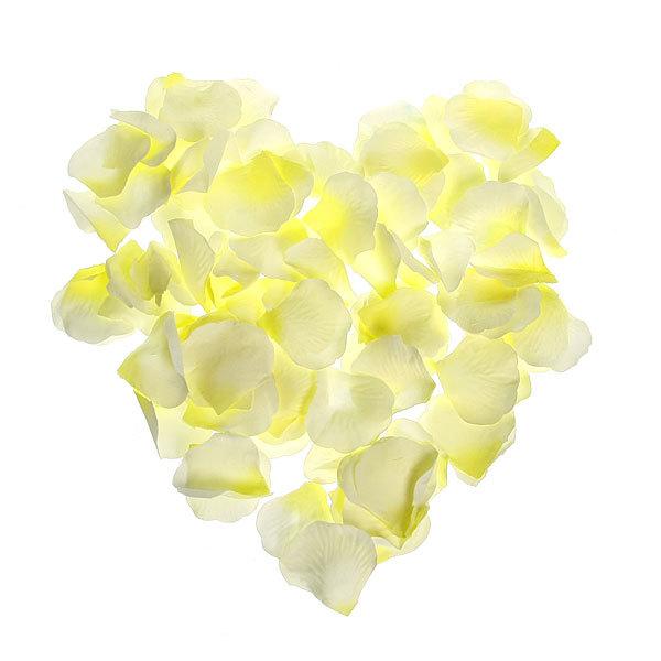Лепестки роз светло-желтые 144 шт в упаковке 5*5,5 купить оптом и в розницу