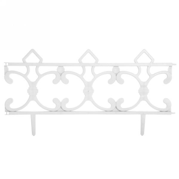 Забор декоративный ″Ковка″ 6 шт белый 3,5м*0,225м купить оптом и в розницу