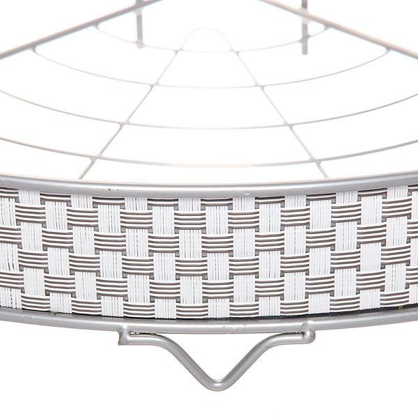 Полка для ванны металлическая угловая тройная 24х24х57см. KB-301W купить оптом и в розницу