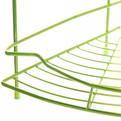 Полка для ванны металлическая угловая двойная 25х25х39см. Y-1099 зеленая купить оптом и в розницу