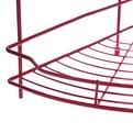 Полка для ванны металлическая угловая двойная 25х25х39см. Y-1099 красная купить оптом и в розницу