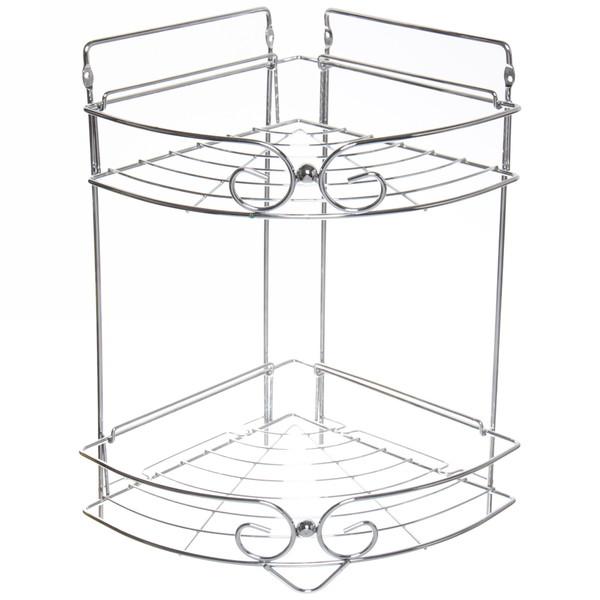 Полка для ванны металлическая угловая двойная 21х21х36см. YE09-2 купить оптом и в розницу