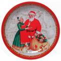 Блюдо жестяное 26см ″Санта и бабушка″ купить оптом и в розницу