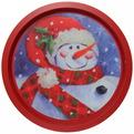 Поднос жестяной 32см ″Снеговик в шарфе″ купить оптом и в розницу
