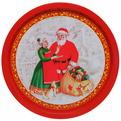 Поднос жестяной 32см ″Санта и бабушка″ купить оптом и в розницу