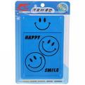 Коврик автомобильный антискольжение с бортиками 14*20,5см, дизайн смайл, цвет синий купить оптом и в розницу