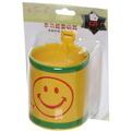 Держатель для мелочей автомобильный стаканчик D*8см, дизайн смайл, цвет желтый купить оптом и в розницу