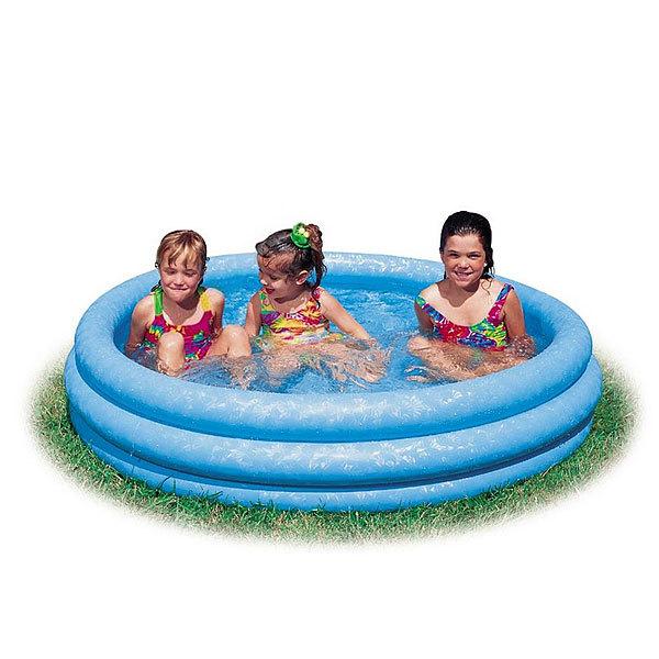 Бассейн надувной круглый 168*38 см Crystal Blue Intex (58446) купить оптом и в розницу
