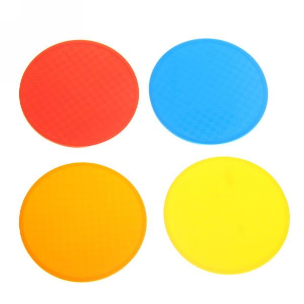 Подставка под кружку силиконовая 10 см в наборе 4 шт Круг купить оптом и в розницу