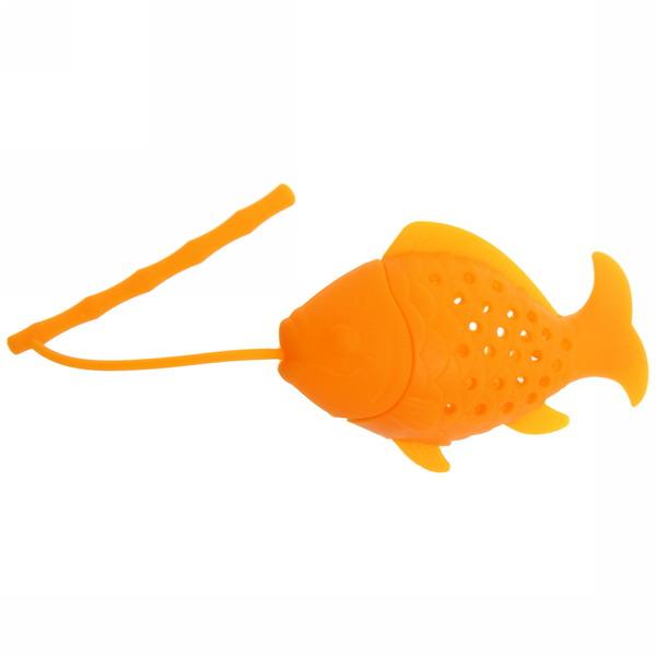 Ситечко для чая силиконовое ″Рыбка″ купить оптом и в розницу
