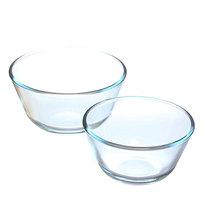 Набор мисок из жаропрочного стекла ″HELPER″ 2 предмета (0,4л; 0,65л) купить оптом и в розницу