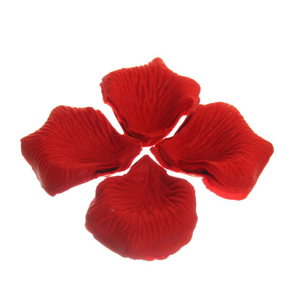 Лепестки роз клубнично-красные 144 шт в упаковке 5*5,5 купить оптом и в розницу