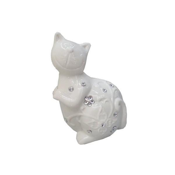 Статуэтка керамическая ″Котик цветочек″, 18*12см купить оптом и в розницу