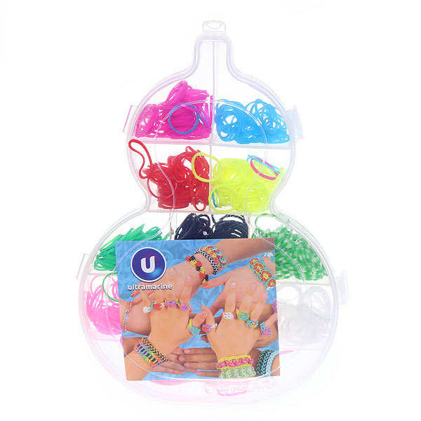 Набор резинок для плетения браслетов 500штук 10 цветов Матрешка купить оптом и в розницу