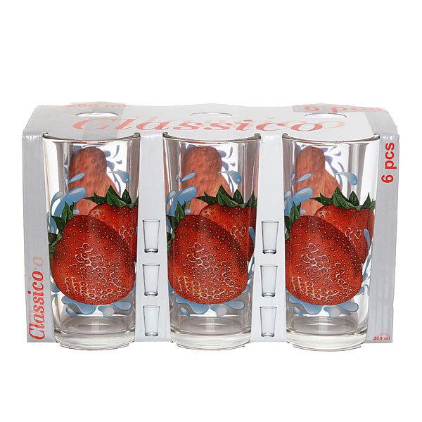 Набор стаканов 6шт 200мл Ода ″Клубника″ купить оптом и в розницу