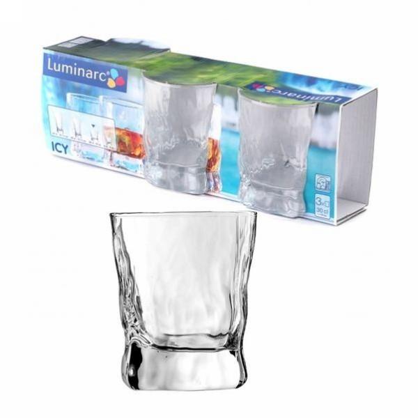 Набор стаканов 3шт 300мл ″Айси″ низкие (1/6) G2766 купить оптом и в розницу