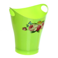 Подставка для столовых приборов ″Цветы″ 14,5*12см пластиковая с ручками купить оптом и в розницу