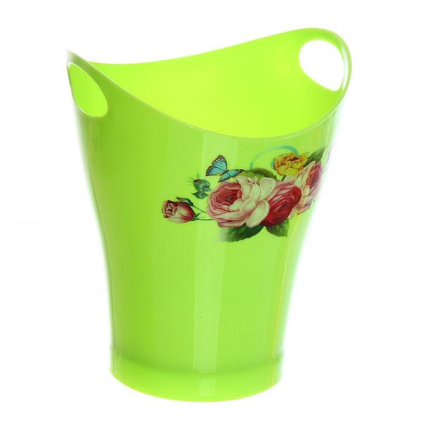 Подставка для столовых приборов ″Цветы″ 14,5*12см пластиковая с ручками 8952 купить оптом и в розницу