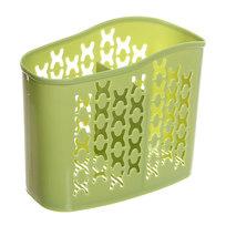 Подставка для столовых приборов 15,5*12,5*7,5см пластиковая, 2 секции 0305 купить оптом и в розницу